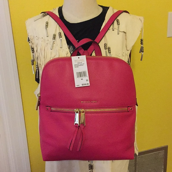 35a33a5685a434 Michael Kors Bags | Rhea Zip Md Slim Backpack Leather | Poshmark
